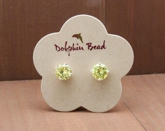 100 Flower Shaped Earring Cards printed with your name or logo - GLOSSY
