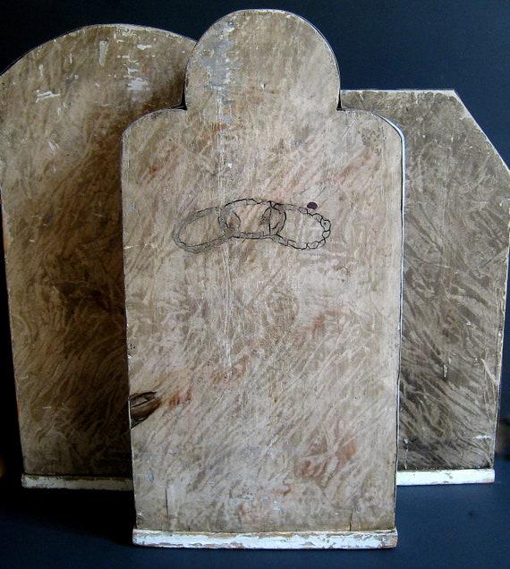 Antique Odd Fellows Lodge Industrial Folk Art Tombstones