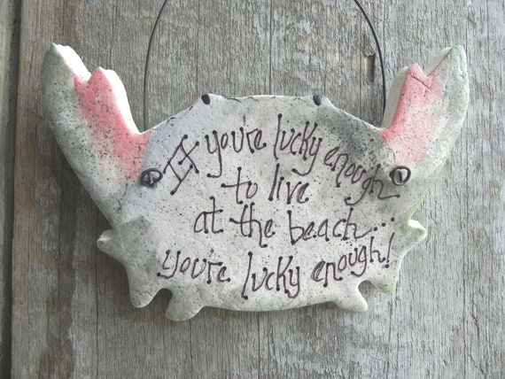 Crab Ornament Nautical Salt Dough / Beach Decor