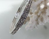 Wedding Bracelet - Clear Rhinestone Crystal Bangle