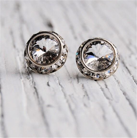 Clear Crystal Diamond Bridal Earrings Wedding Earrings Diamond Earrings Rhinestone Earrings Bridesmaid Clear Diamond Studs Mashugana