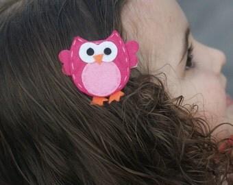 Adorable Owl Hair Clip, Planner Accessory, Bookmark, Badge Reel - Meet Miss Owlexa