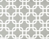 1 or more Yards - Gotcha Premier Prints Fabric in Storm Gray / White (Choose quantity in your Cart)