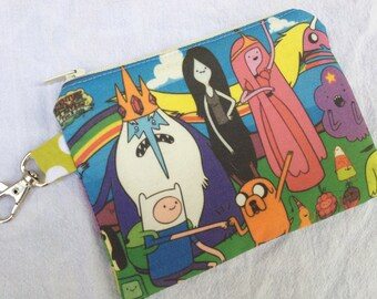 Adventure Time Small Zippered Pouch - Jake and Finn