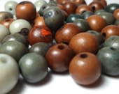 Acai Beads - Natural Seed Beads Camouflage Mix 30 Pieces