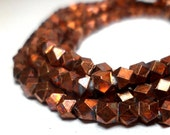 Copper Spacers - Faceted Metal Beads 3.5mm (10)