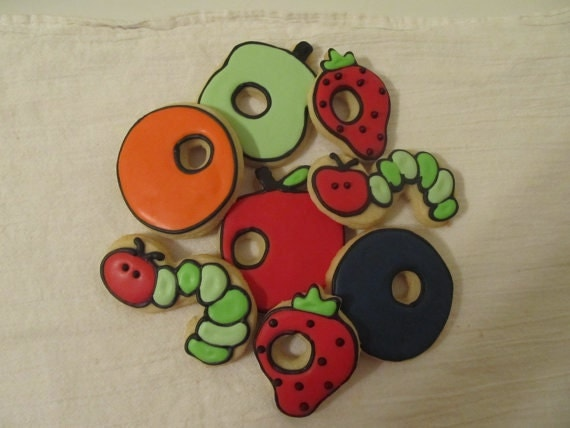 Very Hungry Caterpillar Cookies 1 dozen
