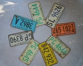 Rustic Collection Of Eight Vintage Illinois License Plates