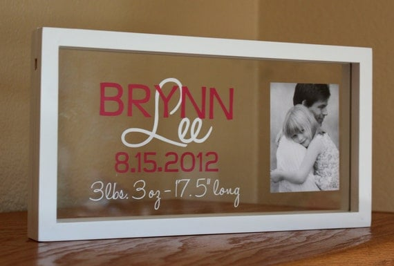 items similar to personalized baby photo name frame on etsy