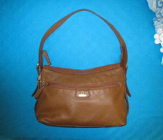 Etienne Aigner Brown Leather Handbag / Shoulder Bag / Vintage
