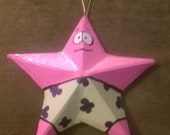 Handpainted Patrick Star Inspired Ornament -3D-