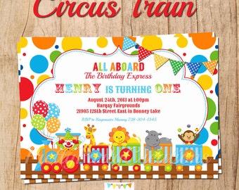 CIRCUS TRAIN invitation - YOU Print
