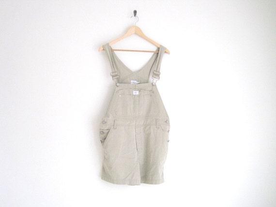 vintage 1990s khaki short overalls