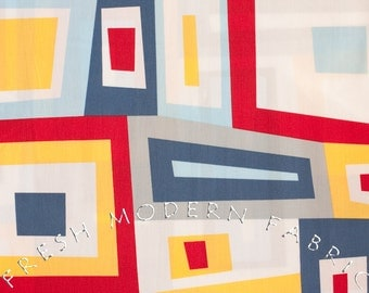 Half Yard Wonky Squares in Pacific, Kona Modern Quilts, by Cynthia Frenette for Robert Kaufman, 100% Cotton Fabric