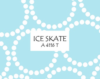 Half Yard Ice Skate Pearl Bracelet, Lizzy House for Andover Fabrics, 100% Cotton Fabric, A 4116 T