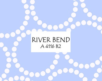 Half Yard River Bend Pearl Bracelet, Lizzy House for Andover Fabrics, 100% Cotton Fabric, A 4116 B2
