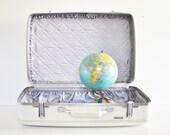 White American Tourister Suitcase - Circa 1960s - thewhitepepper