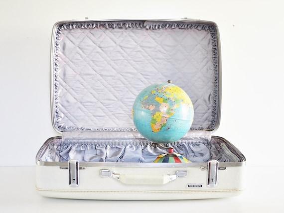 White American Tourister Suitcase - Circa 1960s