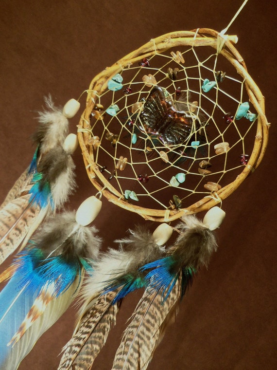 Custom White Willow Dream Catcher Butterfly Kisses Beaded Etsy Fascinating Native American Beaded Dream Catchers