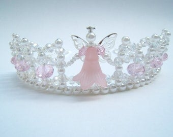 Pretty Little Pink Angel Child's Tiara