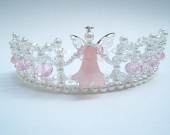 Pretty Little Pink Angel Child's Tiara