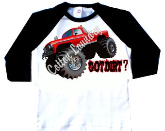 Monster Truck Boys Childrens tshirt..Monster Truck...