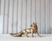 Brass Fox // Solid Brass