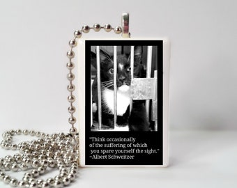 Think occasionally of the suffering of which you spare yourself the sight  Game Tile Pendant