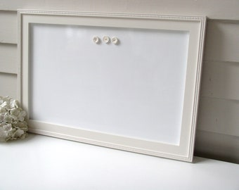 cottage magnetic dry erase board whiteboard bulletin board 15 x 22 handmade solid wood frame in china white memo magnet board