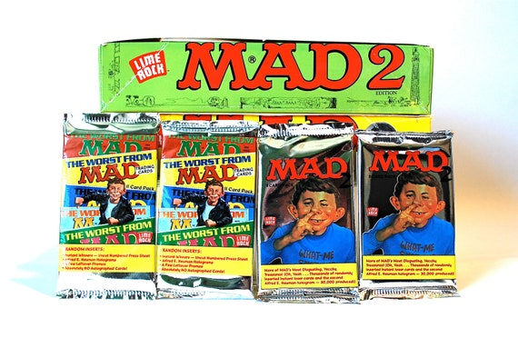 4 MAD Trading Card Packs Series I & II Funny