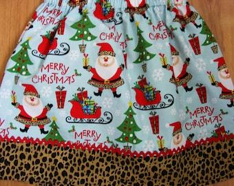 Merry Christmas Santa Skirt  last one 3T or smaller