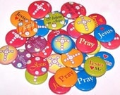 "Religious Cross Faith Set of 10 Buttons 1 Inch Pinback Buttons 1"" Pins or Magnets"