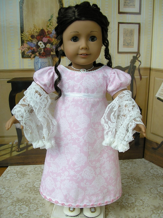 American Girl Caroline 1812 gown and lace shawl