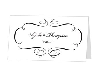 Avery Place Card Templates Free - Avery name tent template