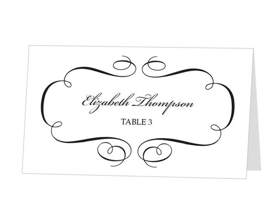 Custom Card Template » Free Wedding Name Place Cards Template ...