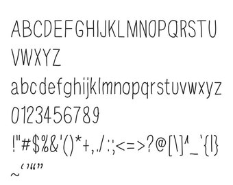 "Font ""Favourite"" computer hand drawn digital typeface for your computer diy"