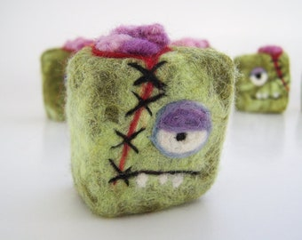 Felted soap Mini Monster Zombie Brains