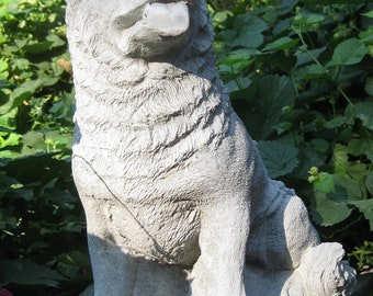 Large Sitting Up German Shepherd Statue