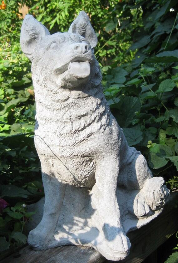 Large Sitting Up German Shepherd Statue