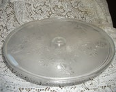 13 inch glass cake plate