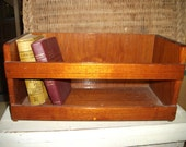 Teak wood book case for boat or ship