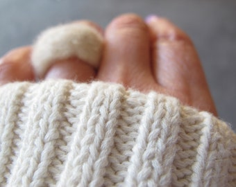 Felted Ring- Cozy Cashmere hand felted minimalistic ring- WINTER