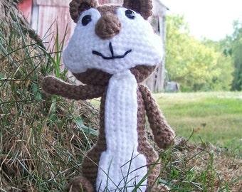 Crocheted Chipmunk - Made To Order - Amigurumi - Hand Crocheted