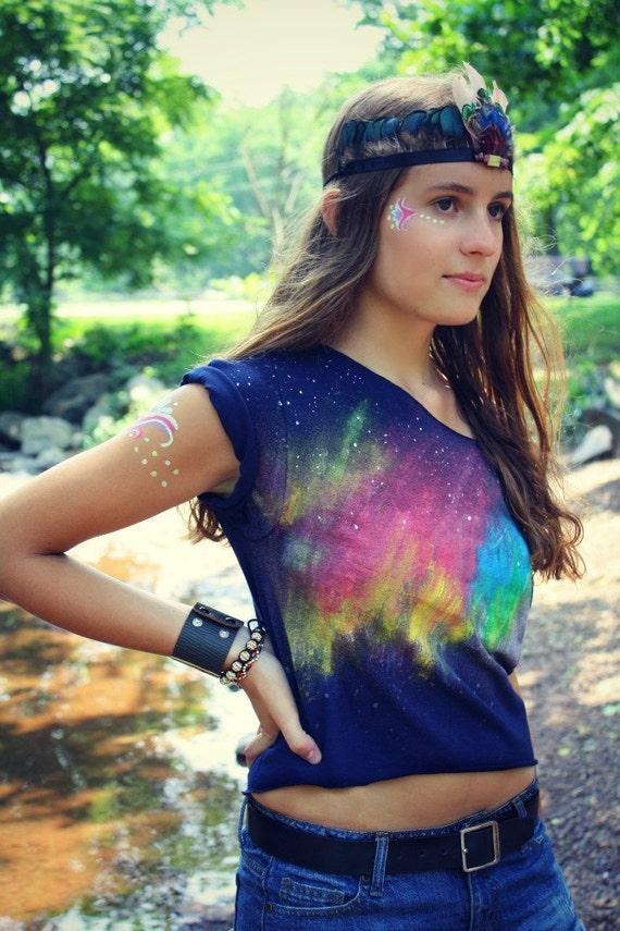 Guide me Northern Lights Crop Tshirt