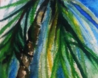 Vignette Palm Tree