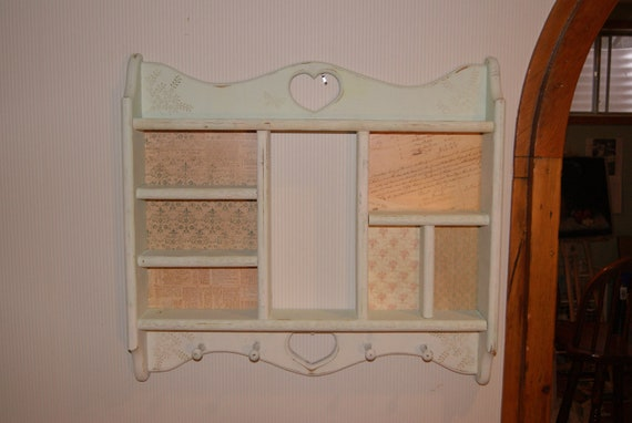 Country Style Shelf with Hooks