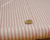 Linen Cotton Blended Fabric - Stripe (pink) - Fat Quarter(27in x 19in) - LF106