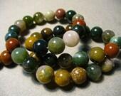 Indian Agate Beads Gemstone Round 10mm