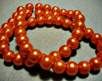 Glass Pearls Orange 8MM