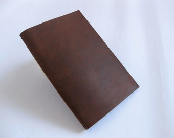Refillable Leather Journal - Pascale III in Cedar Brown Leather - Optional Monogram